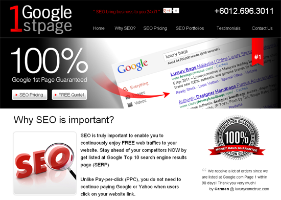 Why SEO is important Why you need SEO Benefits of SEO Google1stpage.com